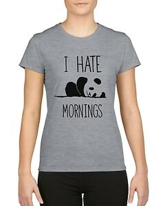 I-Hate-Mornings-Funny-Panda-Ladies-T-Shirt-Top-Tee