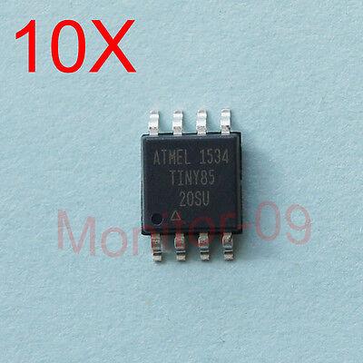 10PCS Microcontroller ATTINY85-20SU ATTINY85 SOP8 SMD -NEW