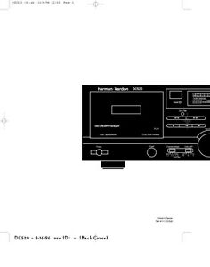 harman kardon dc520 dual auto reverse cassette deck repair manual
