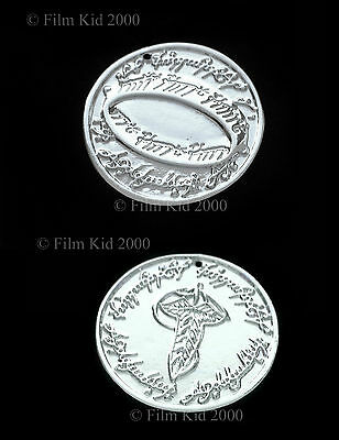 Hobbit Money COIN Silver Plated LOTR Elven Leaf SMAUG The Lord of The Rings Ring