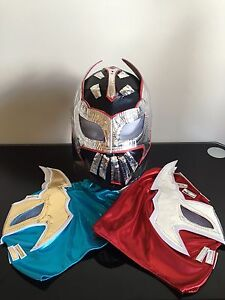 Image is loading Sin-Cara-WWE-Kids-Wrestling-mask-WWE-Lucha- & Sin Cara WWE Kids Wrestling mask (WWE)Lucha Dragons Authentic ...