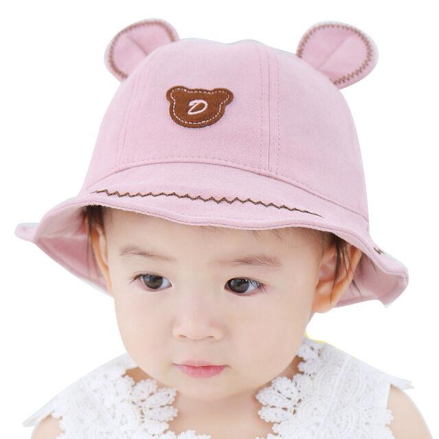 3D  Ear Baby Boys Soft Cotton Bonnet Infant Outdoor Sun Beach Summer Hat