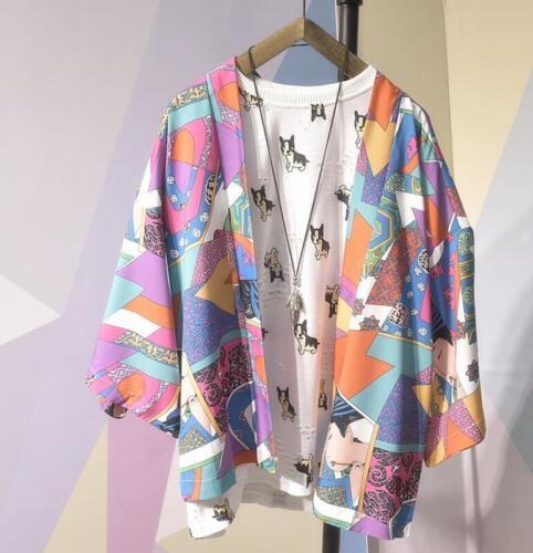 Fashion Men Japanese Loose Shirt Robe Kimono Cardigan Sun Protection Tops Jacket