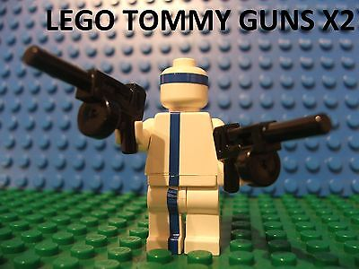 2 LEGO New Mini Figure Tommy Gun Guns add some gangster to your lego collection