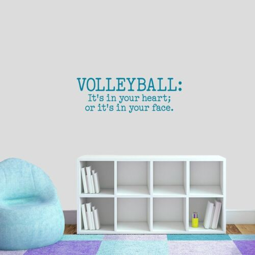 Volleyball It/'s In Your Heart Wall Decal Sticker Athlete Sports Gym Team