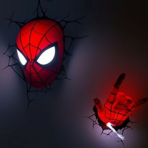 Marvel avengers spider man 3d deco light fx led wall light image is loading marvel avengers spider man 3d deco light fx aloadofball Gallery