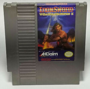 IronSword-Wizards-amp-Warriors-II-Nintendo-NES-1989-3-Screw-Cart-Only