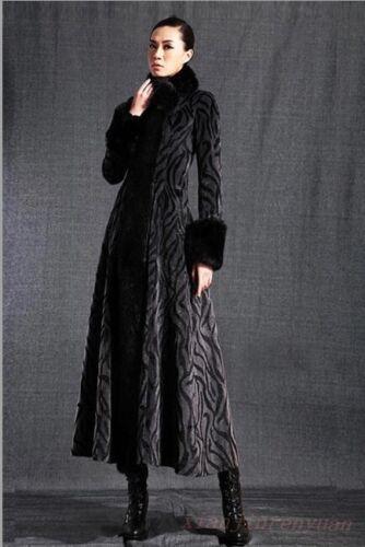 pelliccia Sbox Overcoat da Warm Parka in Collo Coat Outwear Trench integrale donna CP70q