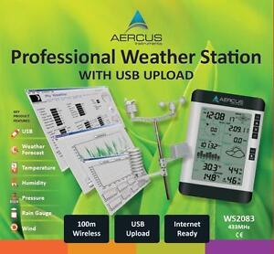 Station-Meteo-sans-Fil-Professionnelle-WS2083-avec-Transfert-PC-par-USB