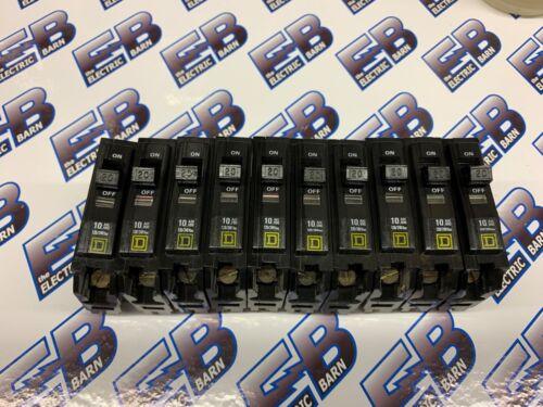 WARRANTY *LOT OF 10* Square D QOB120 Yellow 20 AMP 1 POLE Circuit Breaker