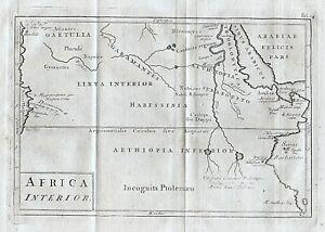 Details about 1779 Ancient Ethiopia Eritrea Nile Africa Genuine Antique Map  Cellarius