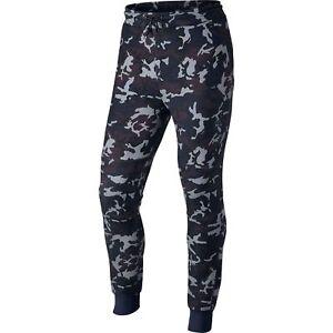 8e9bbde5e082 Mens S Small Nike Tech Fleece Camo Maroon Blue Black Taper Pants 682852 3m