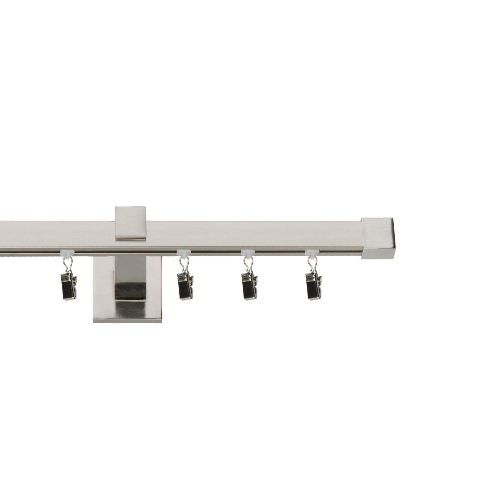 Gardinenstange Quadrat Innenlauf 20 20mm Edelstahllook, 1 2-läufig, 2-läufig, 2-läufig, Topqualität  | Good Design  d9088e