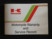KAWASAKI WARRANTY & service record booklet (1980- 86 ) Z1000R / Z1100R ELR RARE