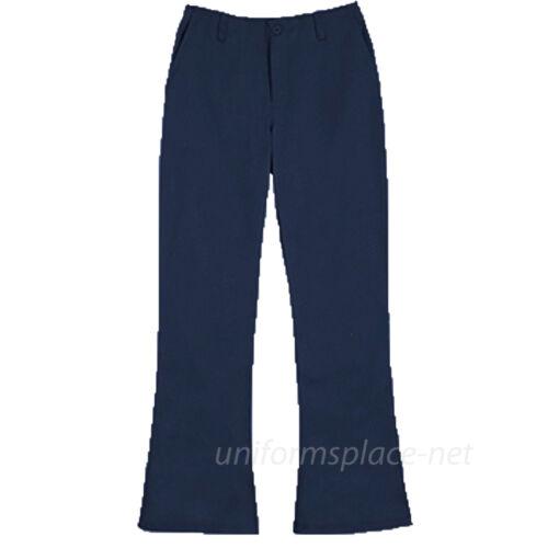 Classroom School Pants Girls Flare Leg with Belt Loops School Uniforms Pants