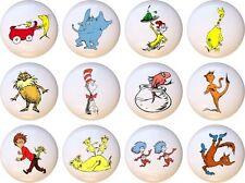 Set of 12 Dr Seuss Doctor CERAMIC Drawer Pulls Dresser Drawer Cabinet Knobs