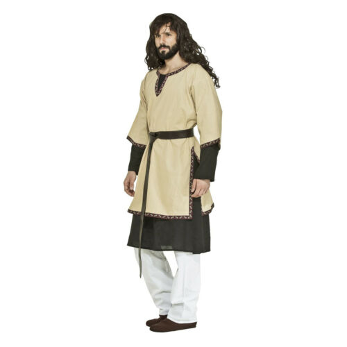 Adult Men Medieval Renaissance Biblical Viking Pirate LARP Cosplay Costume Tunic