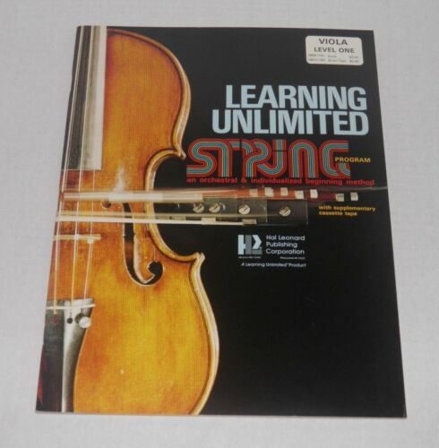"NOS Music Book /""Learning Unlimited String Program/"" Viola Level One"