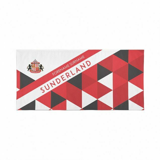 Sunderland Large Beach Towel – Personalise with Any Name