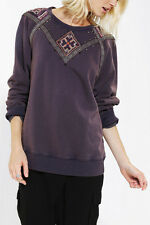 132236 New Ecote Urban Outfitters Studded Sweatshirt Embellished Sweater Top S