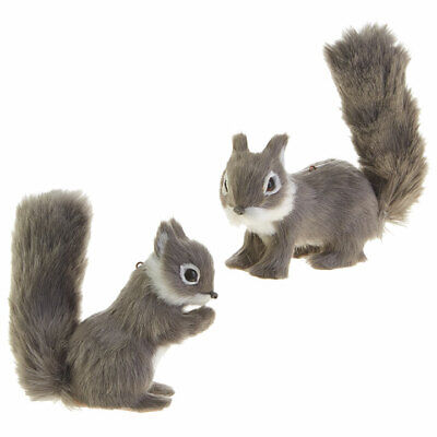Christmas Squirrel.Set Of 2 Fuzzy Squirrel Christmas Ornament Decorations 6 By Raz Imports 48893227043 Ebay