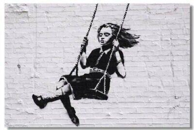 Poster Banksy Peace Room Art Wall Cloth Print 506