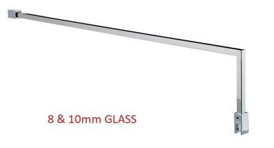 Fixed Wetroom Shower Glass Support Arm Bar up to 1000mm for 8 10 mm Screen GT