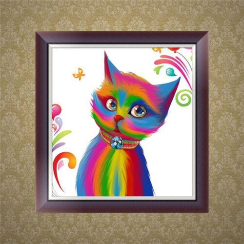 5D Diamond Painting Cat Cross Stitch Embroidery DIY Art Craft Home Wall Decor