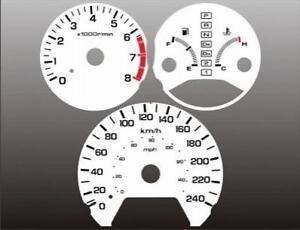 1998-2002-Honda-Accord-METRIC-Dash-Cluster-White-Face-Gauges-KMH-KPH