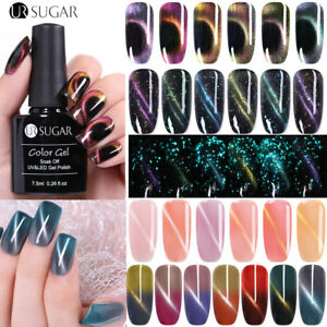 33Colors UR SUGAR Luminous 3D Cat Eyes Vernis Gel UV Magnétique Gel Polish 7.5ML