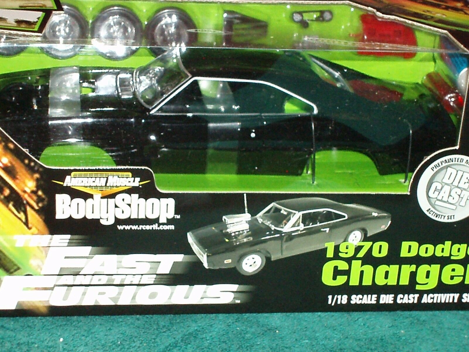Ertl 1970 Dodge Cargador Modelo Kit 1 18  Fast & Furious  nero  Body Shop