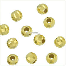 20x STERLING SILVER LASER CUT CORRUGATED ROUND BEAD 3mm #1574