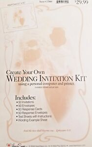 Image Is Loading 2 Wilton Diy Wedding Invitation Kits 100 Invitations