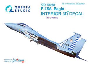 Quinta QD48038 1//48 F-15A 3D-Printed /& coloured interior for GWH kit