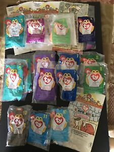 31f7f131f85 McDonalds TY Teenie Beanie Babies Lot of 15 Happy Meal NIB + 4 ...