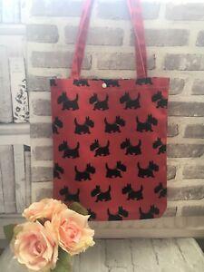 9ed008e90578 Details about Westie Scottie Dog Print Canvas Bag Tote