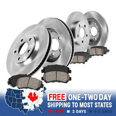 Volvo S60 S80 V70 XC70 Front 286mm and Rear 288mm Brake Rotors Ceramic Pads