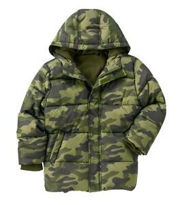 2aaa0f140 Crazy 8 by Gymboree Boys Hooded Camouflage Puffer Jacket in Olive ...