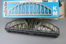 V206b Marklin train Ho Pont métallique en arc 7263 Bogen brücke 36 cm Märklin