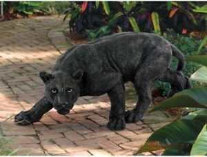 Realistic Life Like 10 Black Panther Statue African Wildlife