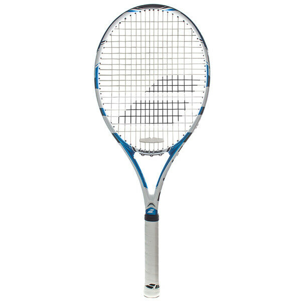 Babolat Drive Lite Tennis Raqcuet bleu blanc Stcourirg with Cover Libre SHIPPING
