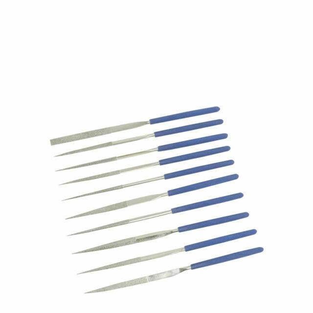 Silverline Diamond Needle File Set 10pce Precision Jewellers Metal 10pce