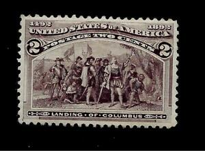 US-1893-Sc-231-2-c-Columbian-Mint-HR-Crisp-Color-Centered