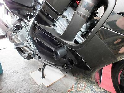WOODCRAFT 1991-1994 HONDA CBR 600 F2 RACING FRAME SLIDERS WITH BLACK PUCKS