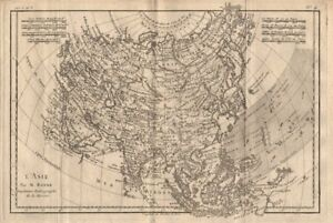 Lasie asia showing the trade winds bonne 1780 old antique map image is loading 034 l 039 asie 034 asia showing the gumiabroncs Images