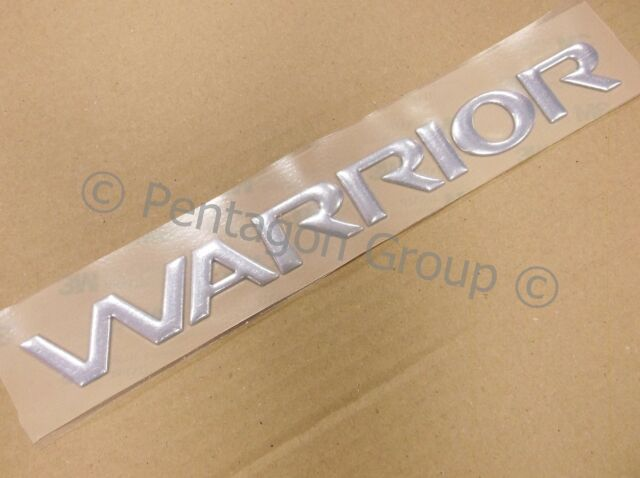 New Genuine Mitsubishi L200 Rear Warrior Chrome Badge Decal SP025741