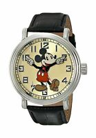 Disney Mickey Mouse Men's Vintage Black Watch N/a Free Shipping