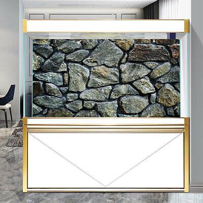 Rock Stone PVC Aquarium Background Poster Fish Tank Decorations Landscape