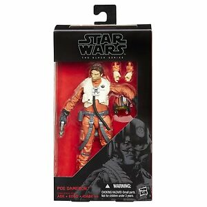 "Star Wars Force Awakens The Black Series #07 POE DAMERON 6/"" Pilot Action Figure"