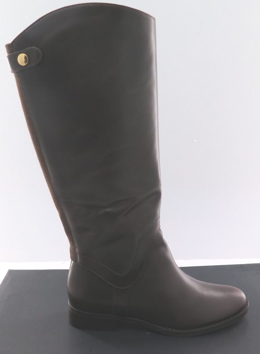 New Women's STEVE MADDEN - Sady-W Dark Brown Leather Boot - 8.5 Wide Calf